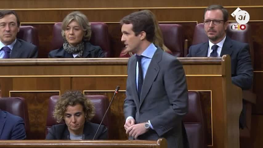 Casado insta a Cs a presentar una moción de censura para echar a Torra