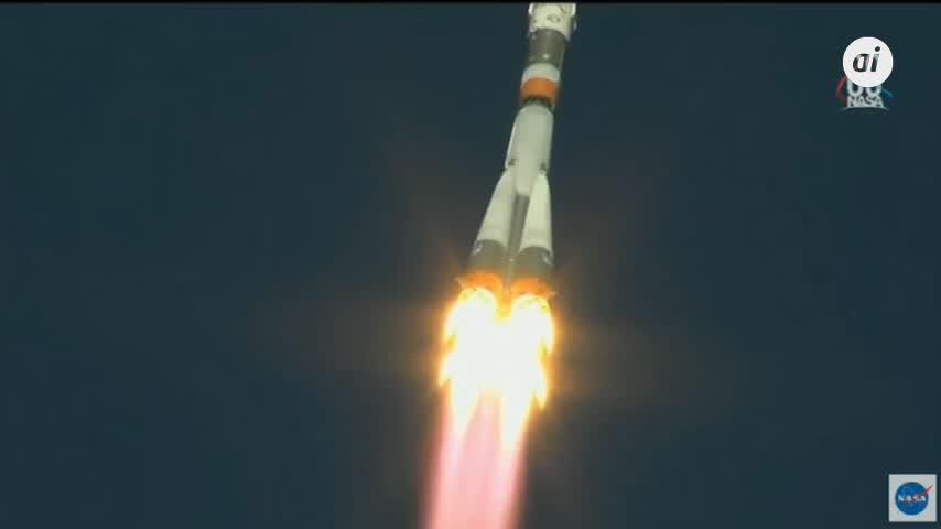 La nave Soyuz aterriza tras fallar el cohete poco después de despegar