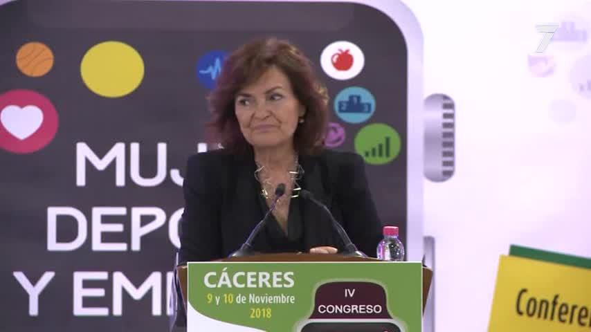 """Carmen Calvo asegura que la igualdad """"no es una moda"""""""