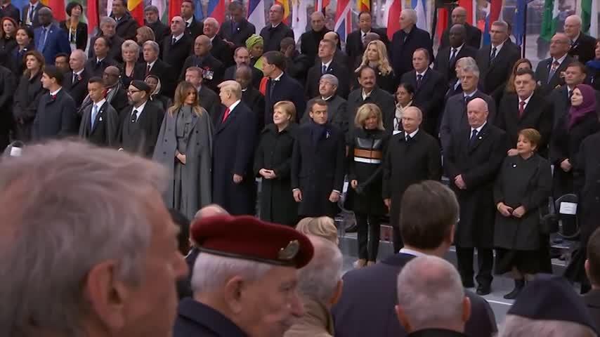 Ceremonia en recuerdo del armisticio de la Primera Guerra Mundial