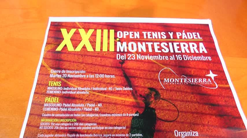 El Torneo de Tenis y Pádel 'Montesierra' cumple 23 años