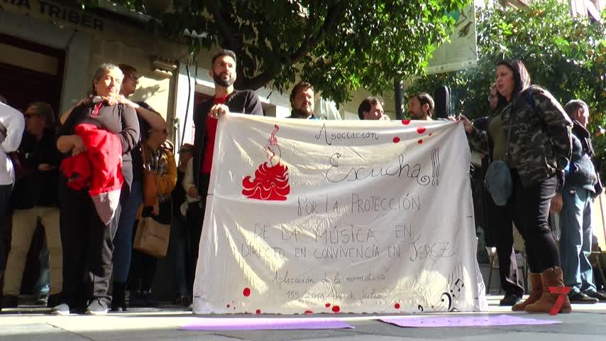 Animada protesta a ritmo de cante y baile flamenco