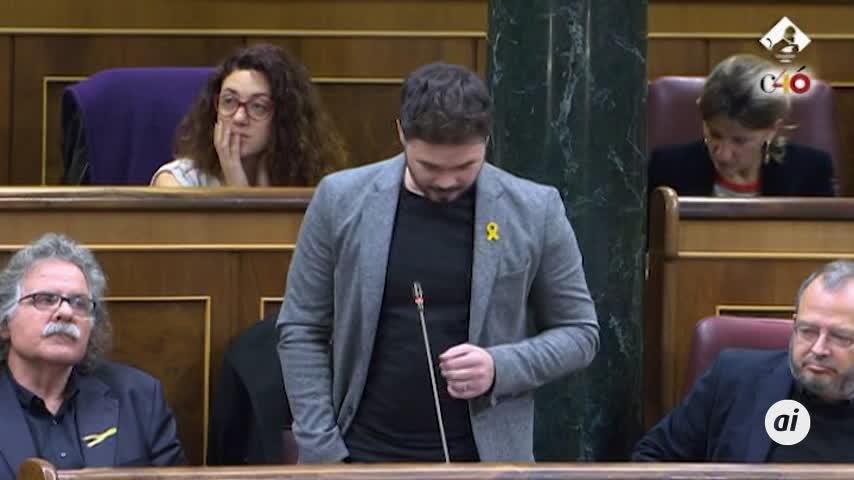 Rufián, expulsado del pleno del Congreso tras un rifirrafe con Borrell
