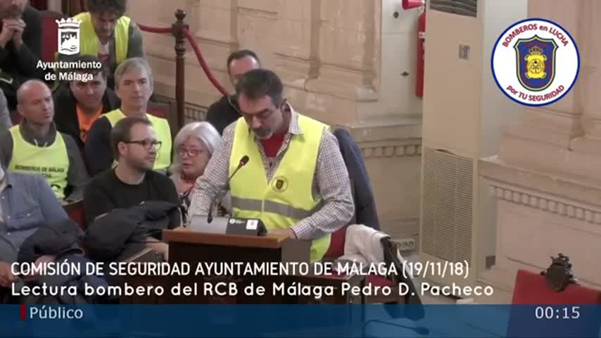 Bomberos de Málaga insisten en falta de seguridad por las carencias
