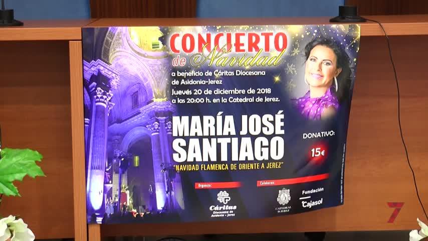 María José Santiago ofrecerá el Concierto de Navidad de Cáritas
