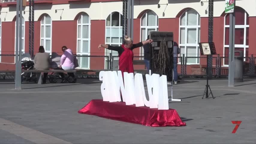 La Gran Plaza, escenario para un alegato contra la violencia machista
