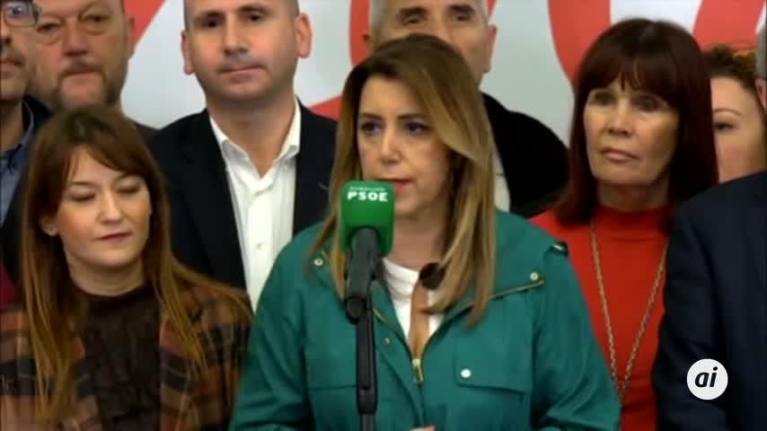 """Susana Díaz llama a todos los partidos a parar a la """"extrema derecha"""""""