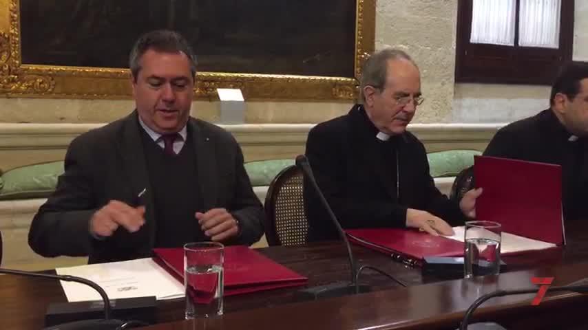 Espadas y Asenjo rubrican el nuevo acuerdo por Santa Clara