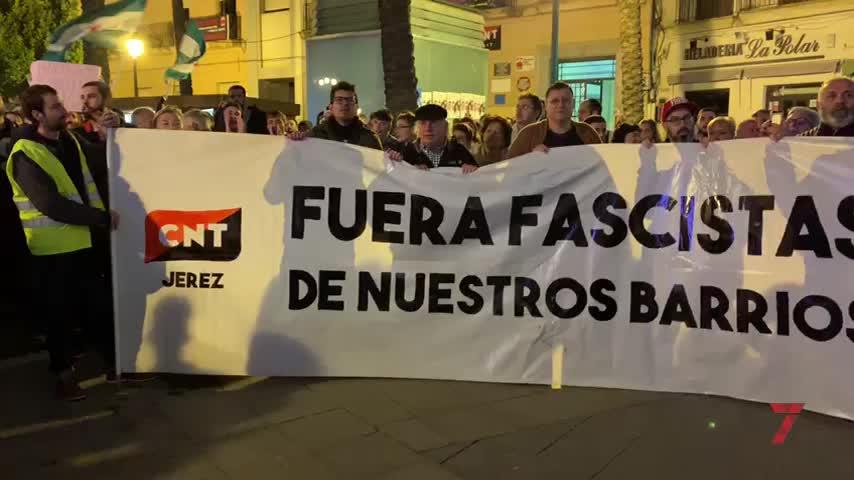 Jerez se suma a la ola de protestas 'antifascistas'