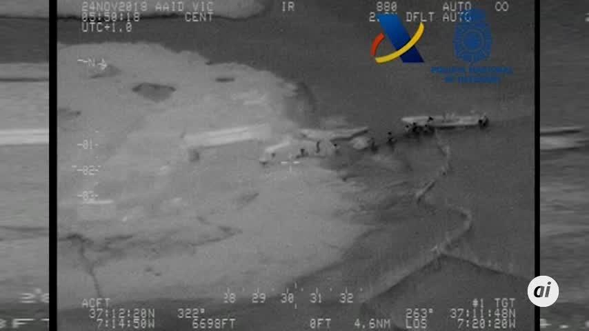 Aprehendidas 2,7 toneladas de hachís en Ayamonte