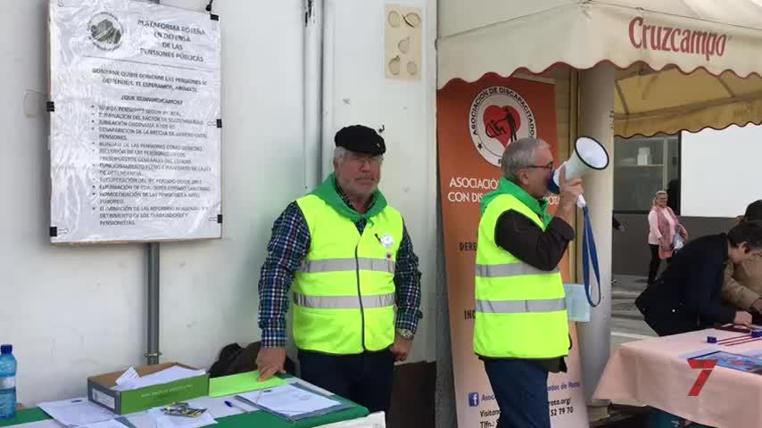 Los pensionistas de Rota se concentrarán este sábado en plaza España