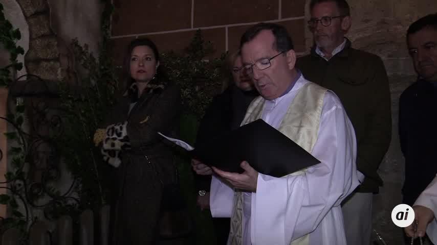 Inaugurado el Belén Municipal en el cancel de la Iglesia Mayor
