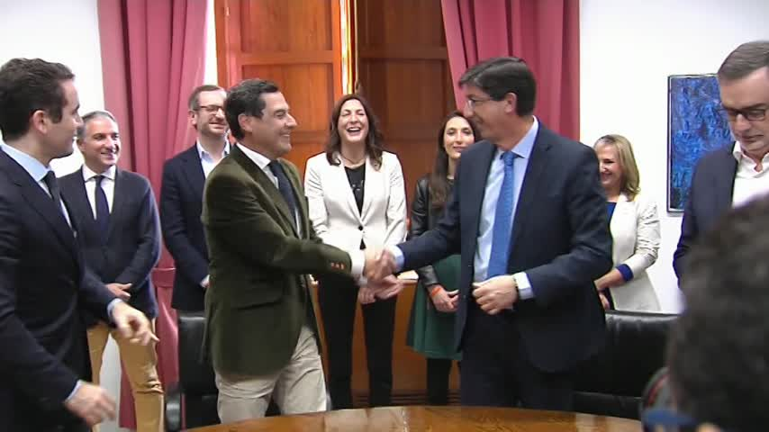 Juanma Moreno será presidente de la Junta con apoyo de Cs y Vox