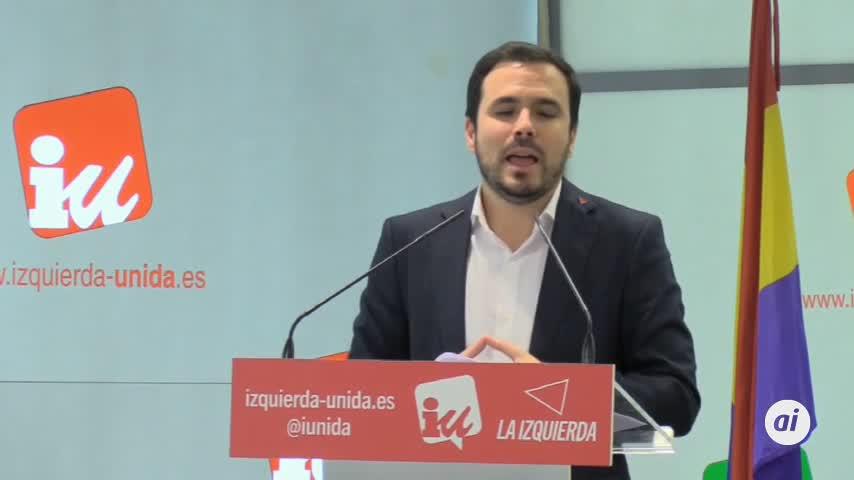 """Garzón critica la """"política de clase"""" de PP, Cs y Vox"""