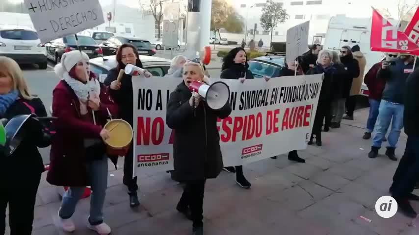CCOO protesta ante SAMU contra el despido de su delegado sindical