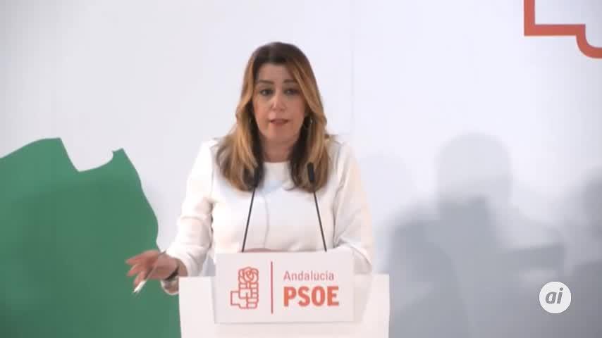 """Díaz afirma que el nuevo Gobierno andaluz nace """"roto en dos mitades"""""""