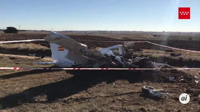 Mueren dos personas en un accidente de avioneta en Quijorna