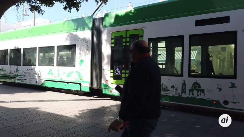 El Tranvía Metropolitano reanuda las pruebas atravesando la calle Real