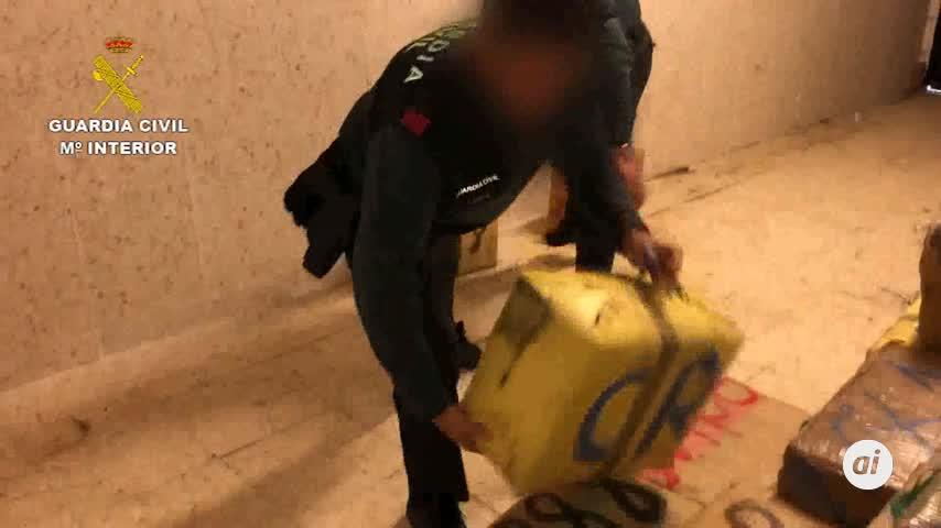 Seis detenidos y 875 kilos de hachís intervenidos en Nuevo Portil