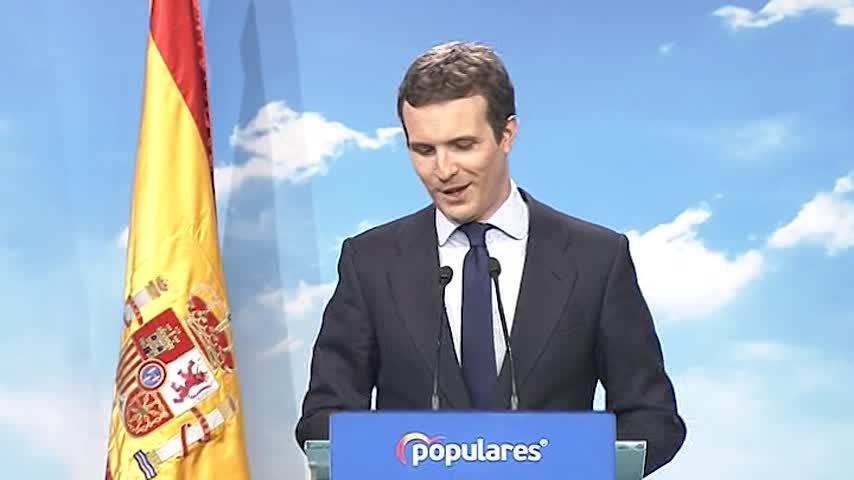 """Casado: """"PP ha conseguido que el Gobierno de Sánchez tire la toalla"""""""