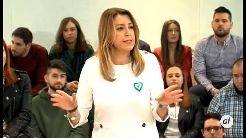 """Susana Díaz critica la """"respuesta cobarde"""" de Cs y PP a Vox"""