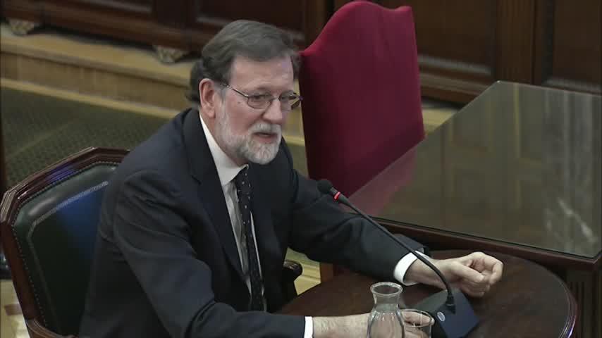 """Rajoy: """"No iba a liquidar la soberanía nacional con un referéndum"""""""
