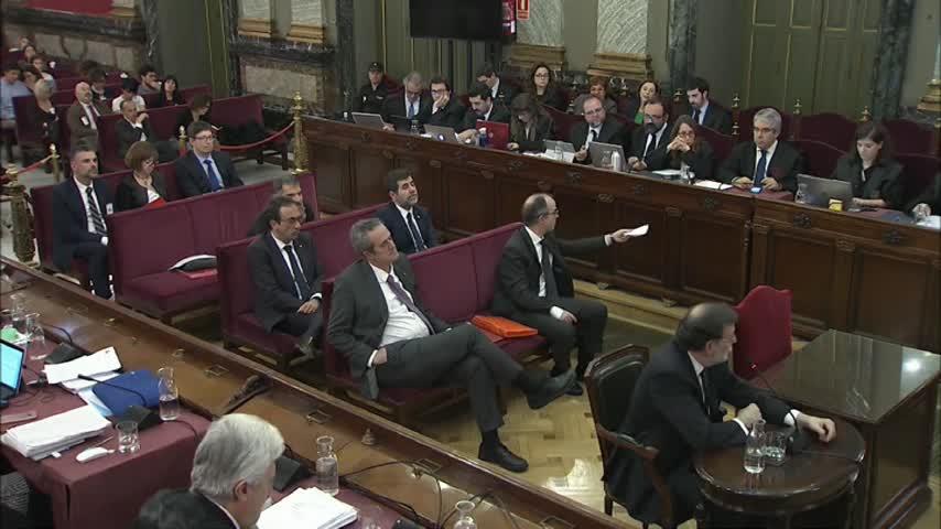 Jornada clave en el 'procés' marcada por la declaración de Rajoy