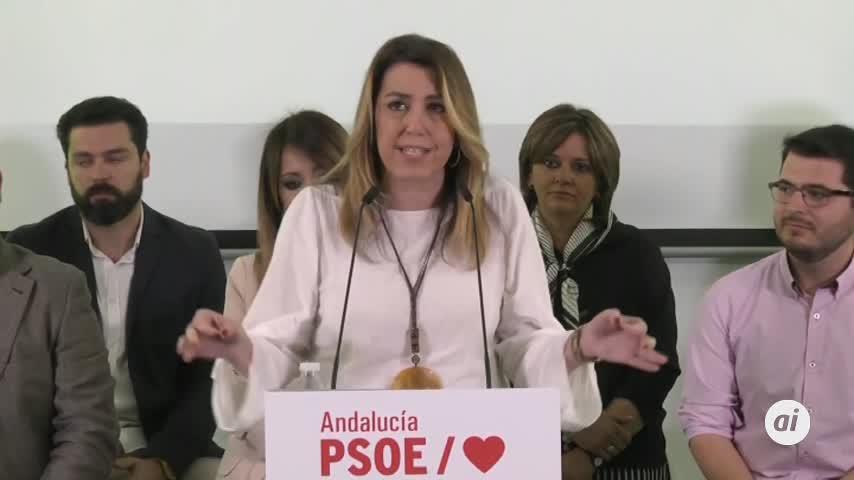 """Susana Díaz pide acudir """"masivamente"""" a las urnas el 28-A"""