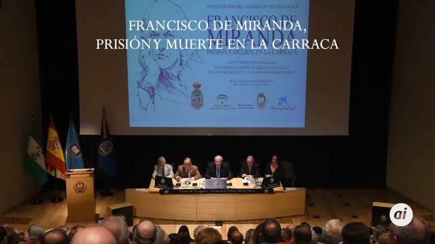 'Francisco de Miranda, prisión y muerte en la Carraca', el libro