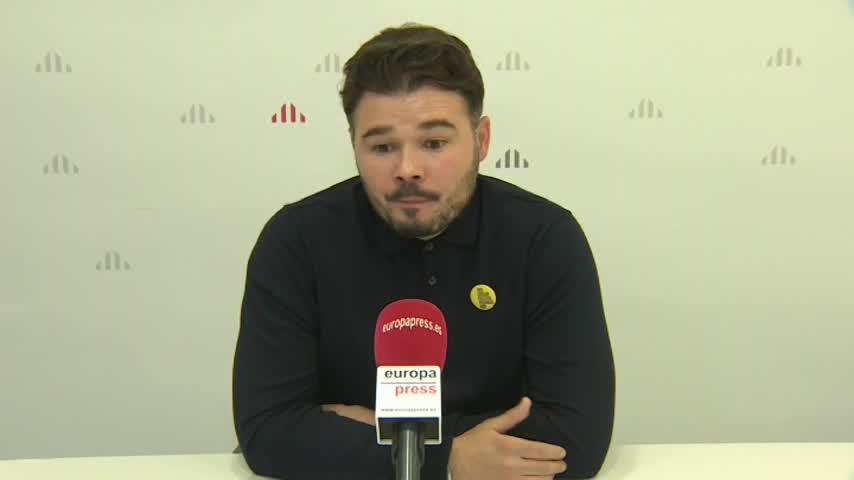 "Rufián: ""Votar al PSC es hacer ministra a Arrimadas"""