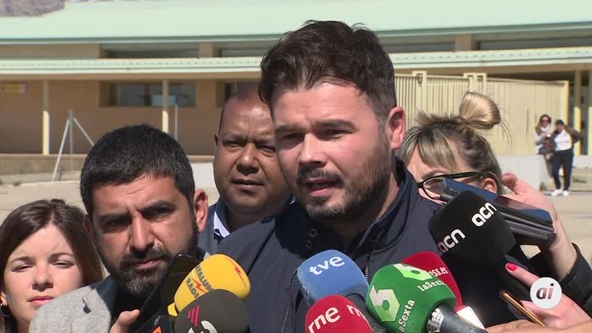 """Para Rufián, esta es la razón que demuestra que hay """"presos políticos"""""""