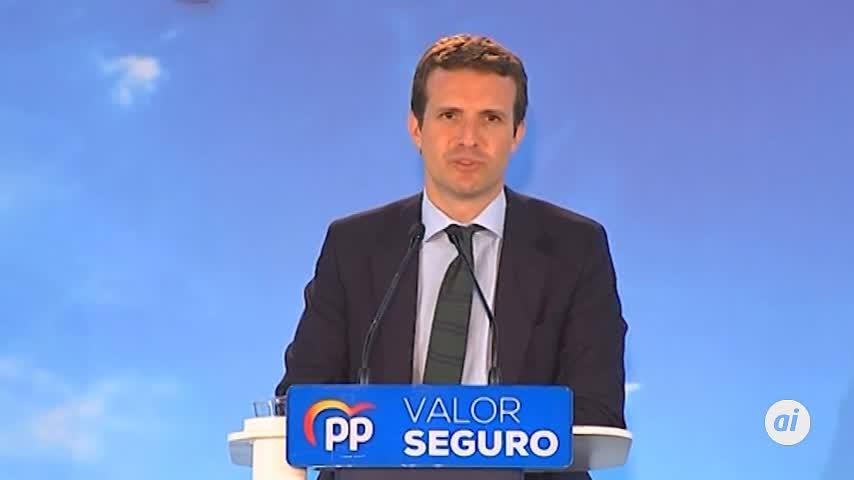 """Pablo Casado acusa a Sánchez de estar """"patrocinando la sedición"""""""
