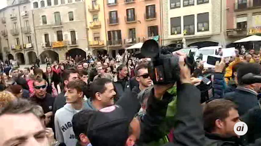 """Inés Arrimadas es increpada en Vic por """"fascista"""""""