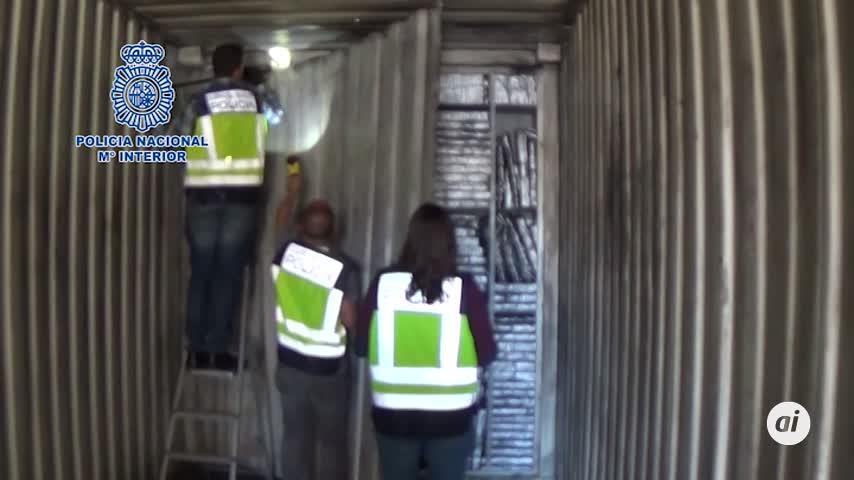 Hallan 1.500 kilos de hachís en un contenedor cargado en Algeciras