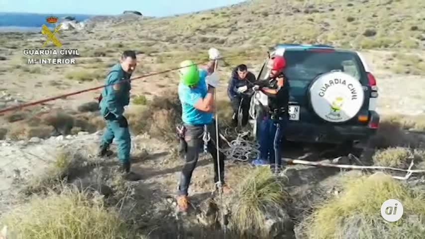 Guardia Civil rescata a un perro y cuatro jabalíes caídos en un pozo