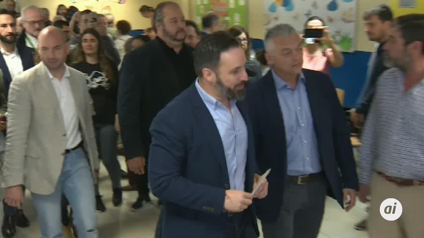 "Abascal: ""Millones de españoles van a votar con esperanza, sin miedo"""
