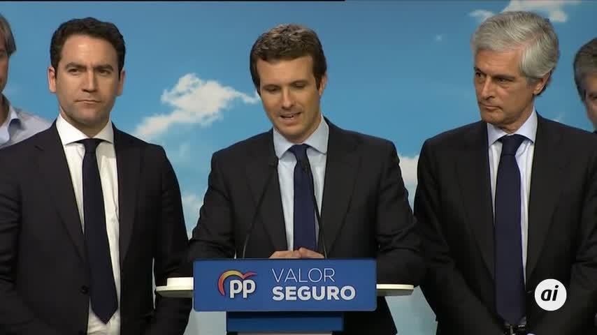 """Pablo Casado admite que el resultado es """"muy malo"""""""