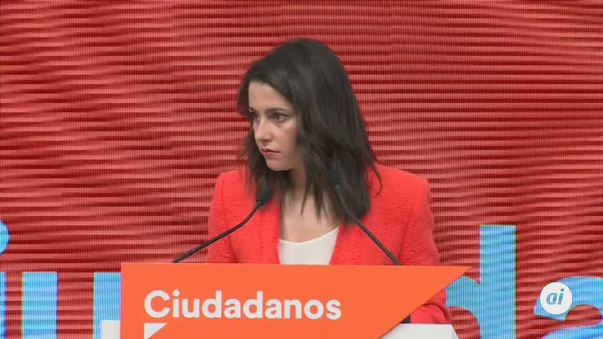Arrimadas rechaza un pacto para la investidura de Sánchez