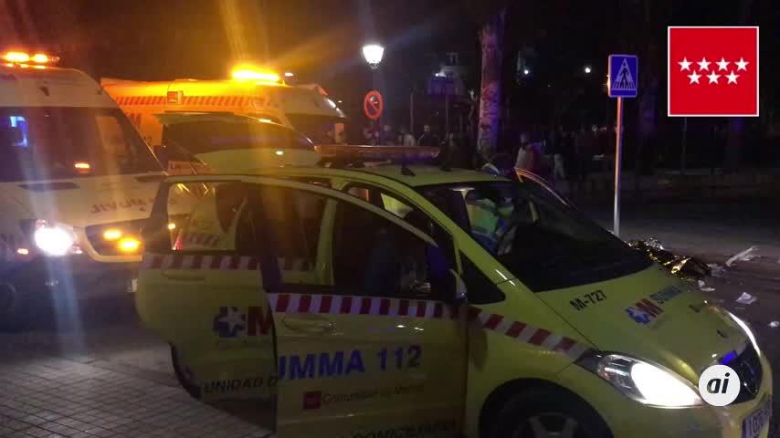 Un joven muerto y tres heridos por arma blanca en un reyerta en Madrid