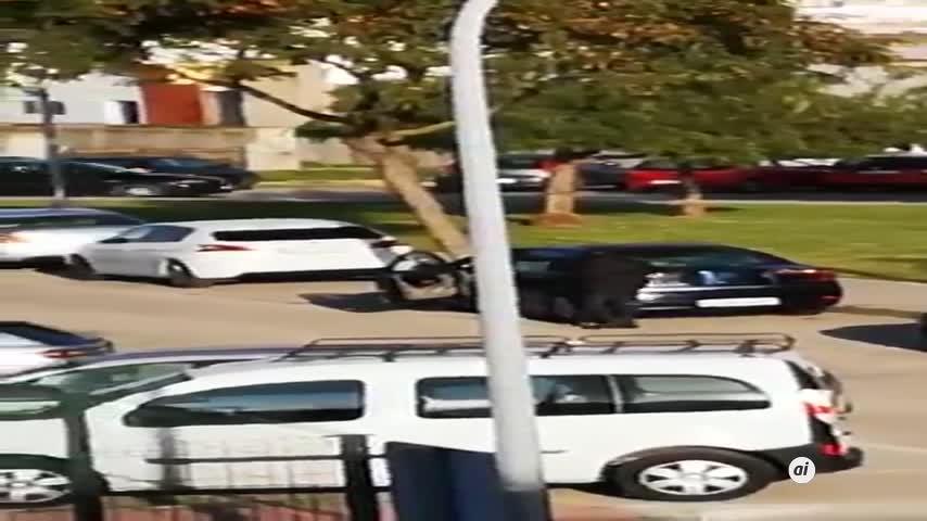 Polémica por destrozar a martillazos un coche en El Puerto