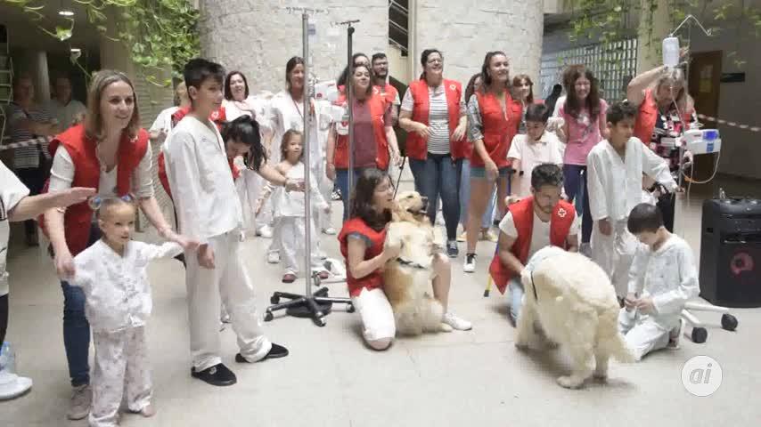 Animales, besos y sonrisas para hacer más cercano el hospital