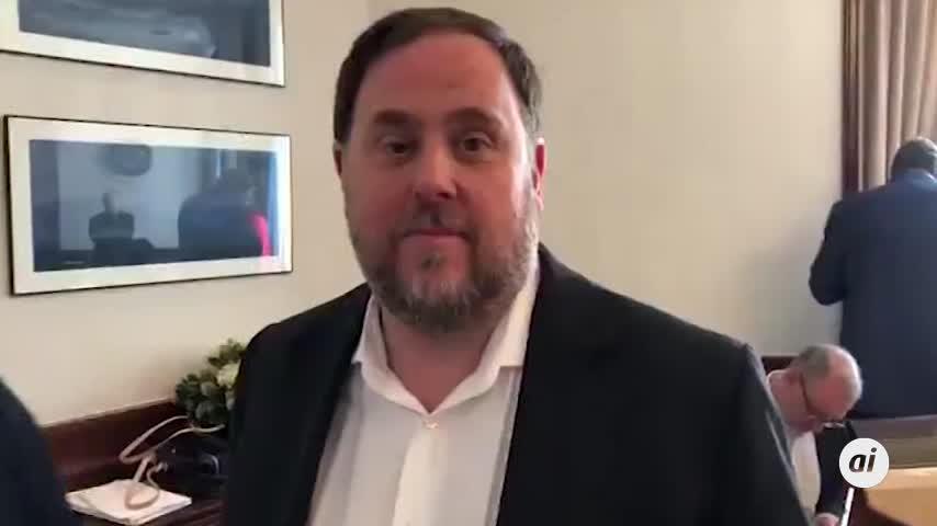 Oriol Junqueras graba un vídeo en el Congreso y lo difunde en redes