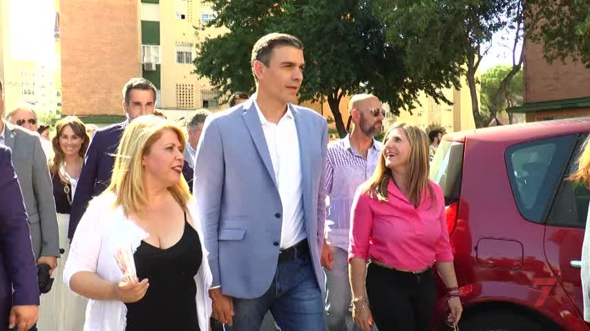 """El paseo de Pedro Sánchez por Princi Jerez: """"Hay que ganar y gobernar"""""""