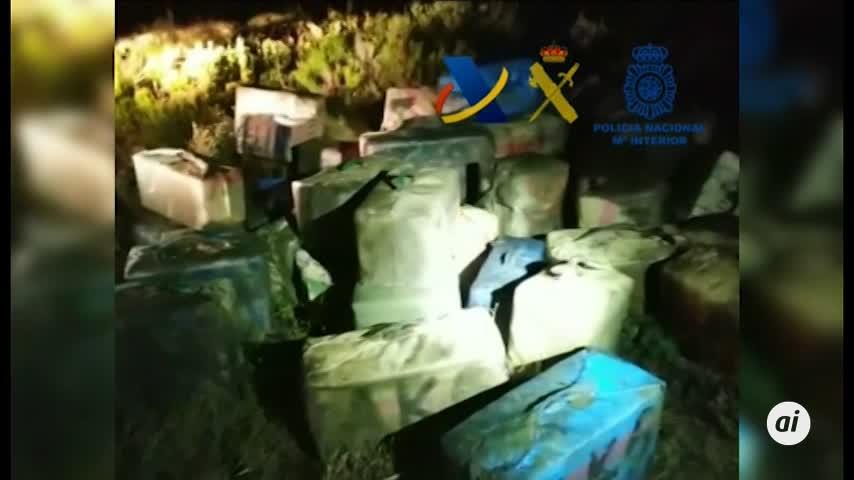 Siete detenidos y más de 2.000 kilos de hachís incautados en Huelva