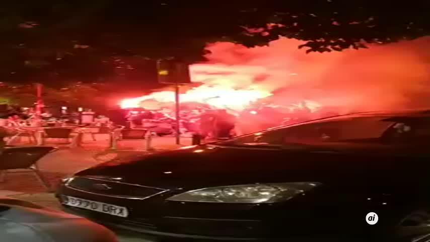 23 detenidos y cinco policías heridos antes de la Copa del Rey