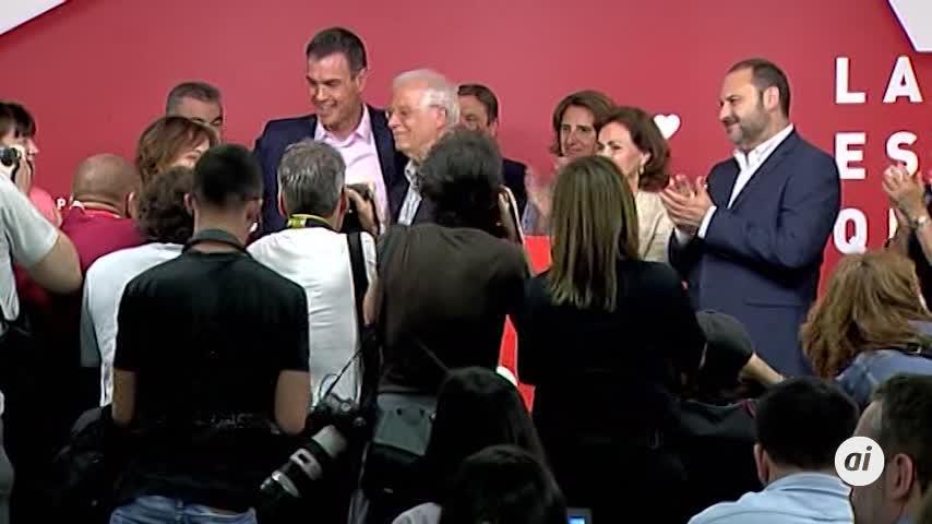 El PSOE gana con holgura las europeas y el PP retrocede