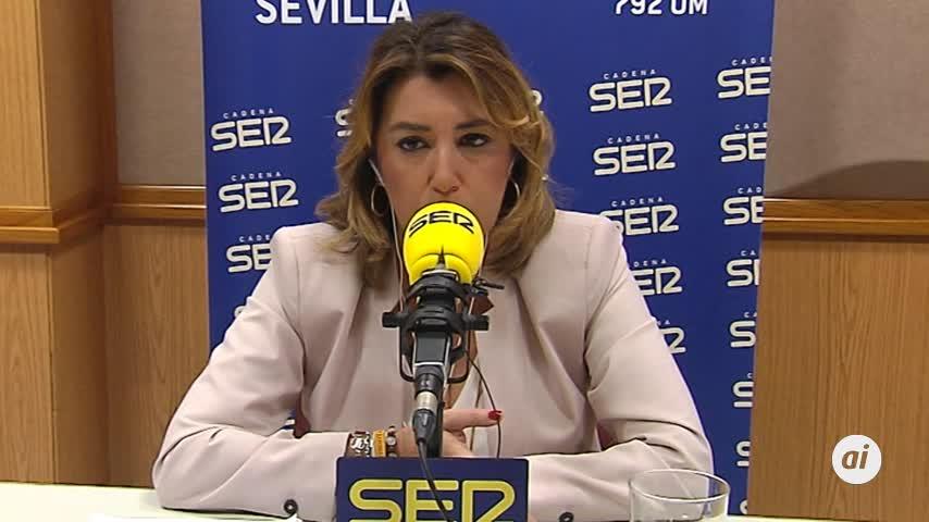 """Susana Díaz pide a PP y Cs """"menos golpes de pecho"""""""