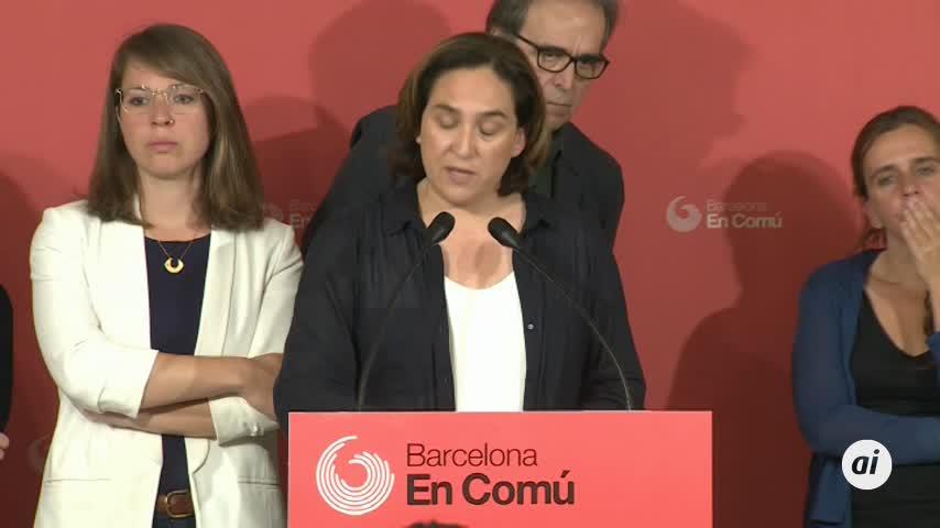 Colau consultará a sus bases sobre la investidura en Barcelona