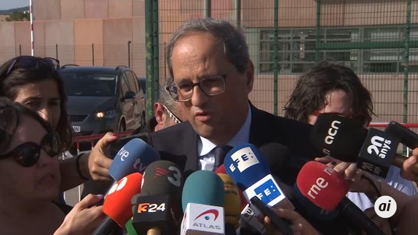Torra pide la libertad de los presos independentistas