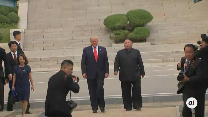 Histórico encuentro de Trump y Kim Jong-un en la frontera intercoreana